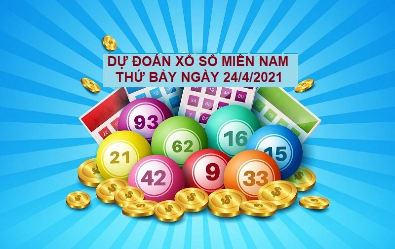 Dự đoán xổ số miền Nam thứ bảy ngày 24/4/2021 hoàn toàn miễn phí